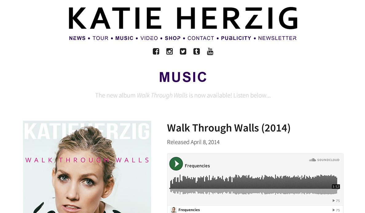 Katie Herzig Artist Website